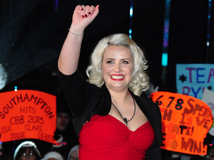 Claire Richards leaves Celebrity Big Brother, filmed at the Elstree Studios in London.