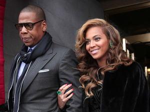 Beyonce and Jay-Z at President Obama inauguration January 2013