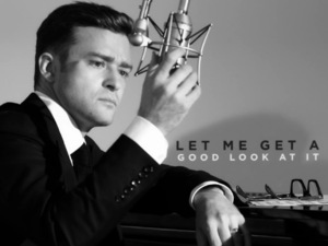 Justin Timberlake in 'Suit & Tie' lyric video.