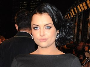 Shona McGarty arriving for the 2013 National Television Awards at the O2 Arena, London.