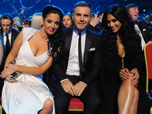Tulisa Contostavlos, Gary Barlow and Nicole Scherzinger, National Television Awards 2013