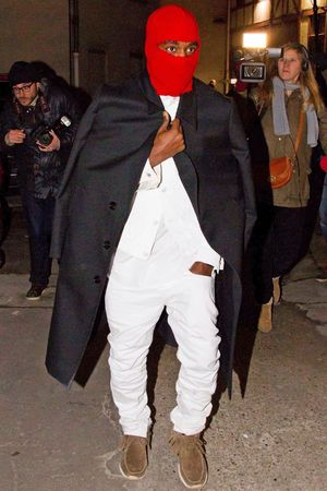 Kanye West, Maison Martin Margiela show, Haute Couture Spring Summer 2013, Paris Fashion Week