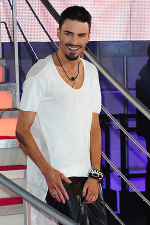 Rylan Clark leaves Celebrity Big Brother, filmed at the Elstree Studios in London.