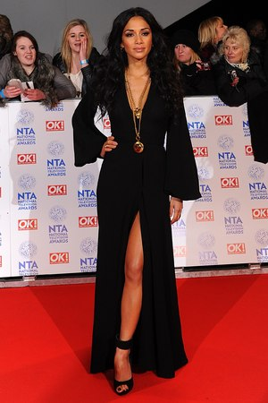 Nicole Scherzinger arriving for the 2013 National Television Awards at the O2 Arena, London.