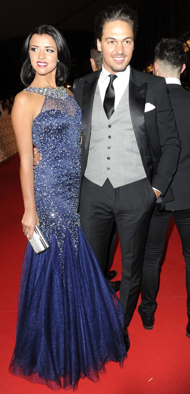 Lucy Mecklenburgh and Mario Falcone at NTAs