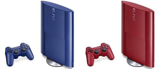 The Blue and Red 'Super Slim' PlayStation 3