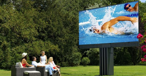 The world's largest TV has been unveiled by Austrian firm C SEED Entertainment Systems - and has a 201inch screen
