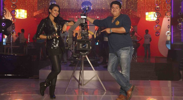 Sonakshi Sinha and Sajid Khan during the song 'Thank God Its Friday'