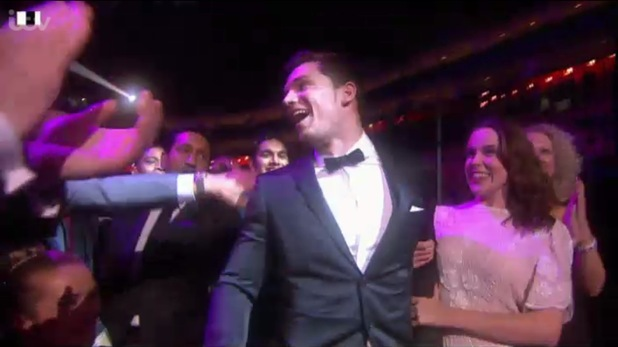 David Witts with his girlfriend at the National Television Awards.