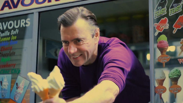 Duncan Bannatyne the ice cream man in ReConnected ''One In A Million' video