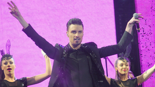 Rylan Clark performs at the start of the X Factor Live 2013 Tour at the Manchester ArenaFeaturing: Rylan Clark Where: Manchester, United Kingdom When: 26 Jan 2013 Credit: Steve Searle/WENN.com**Images cannot be used for publication after 27th March 2013**