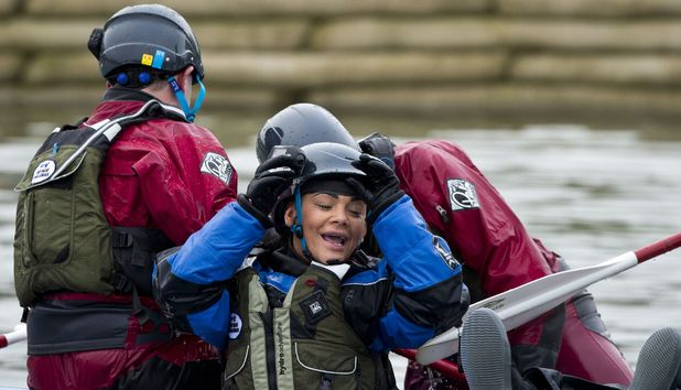 Comic Relief Hell and High Water challenge: Mel C, Chelsee Healy, Greg James and Jack Dee
