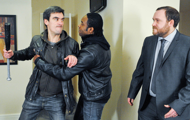 Cain Dingle and Dominic Andrews confront Pete