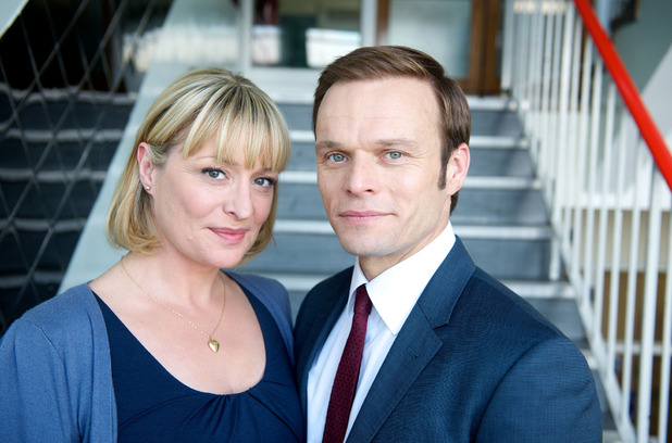 Laurie Brett and Alec Newman in Waterloo Road