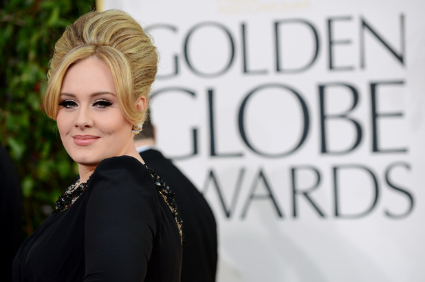 Adele, 2013 Golden Globes red carpet