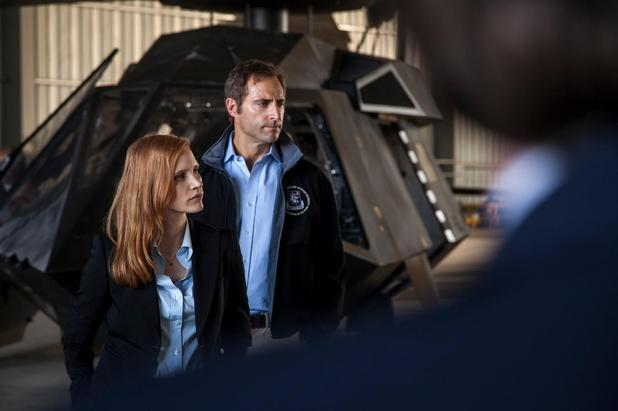 'Zero Dark Thirty' still, Jessica Chastain, Mark Strong