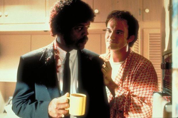 Still of Samuel L. Jackson and Quentin Tarantino in Pulp Fiction