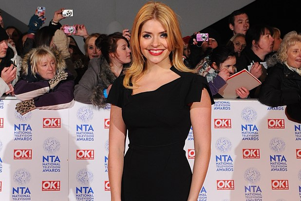 Holly Willoughby arriving for the 2013 National Television Awards at the O2 Arena, London.