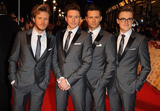 McFly arriving for the 2013 National Television Awards at the O2 Arena, London.