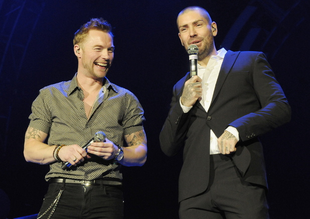 Ronan Keating and Shane Lynch