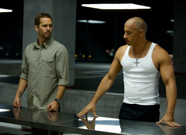 Fast and Furious 6 screenshot with Paul Walker and Vin Diesel