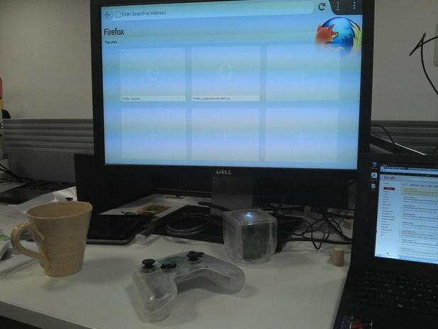 OUYA Firefox browser in progress as posted by Mobile platform engineer Chris Lord