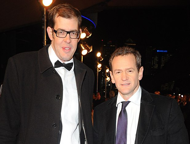Richard Osman and Alexander Armstrong arriving for the 2013 National Television Awards at the O2 Arena, London.