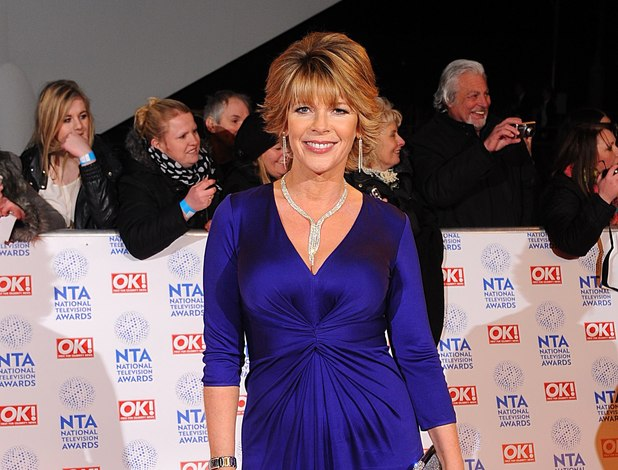 Ruth Langsford arriving for the 2013 National Television Awards at the O2 Arena, London.