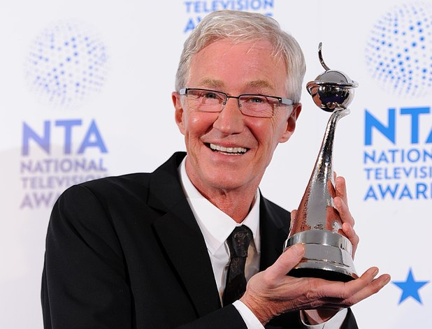 Paul O'Grady with his award for Best Factual Entertainment for 'For The Love Of Dogs', in the press room at the 2013 National Television Awards at the O2 Arena, London.