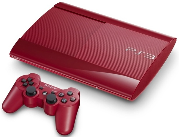 Red PS3 super slim