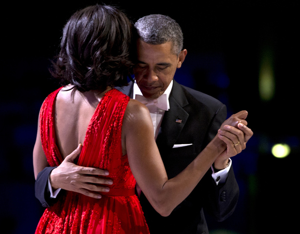 Barack and Michelle Obama's first Inauguration Ball dance
