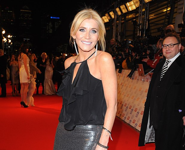 Michelle Collins arriving for the 2013 National Television Awards at the O2 Arena, London.