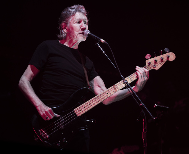Bassist and singer Roger Waters, formerly of the English rock band Pink Floyd, performs in concert in Rio de Janeiro, Brazil, Thursday, March 29, 2012.