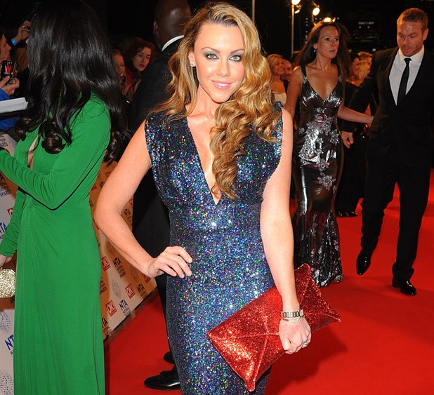 Michelle Heaton arriving for the 2013 National Television Awards at the O2 Arena, London.