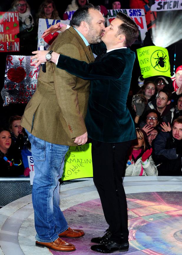 Neil Ruddock leaves Celebrity Big Brother, filmed at the Elstree Studios in London.