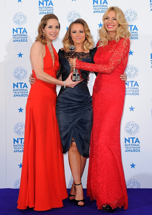 (left to right) Darcey Bussell, Kimberley Walsh and Tess Daly with their Best Talent Show award for Strictly Come Dancing, in the press room at the 2013 National Television Awards at the O2 Arena, London.