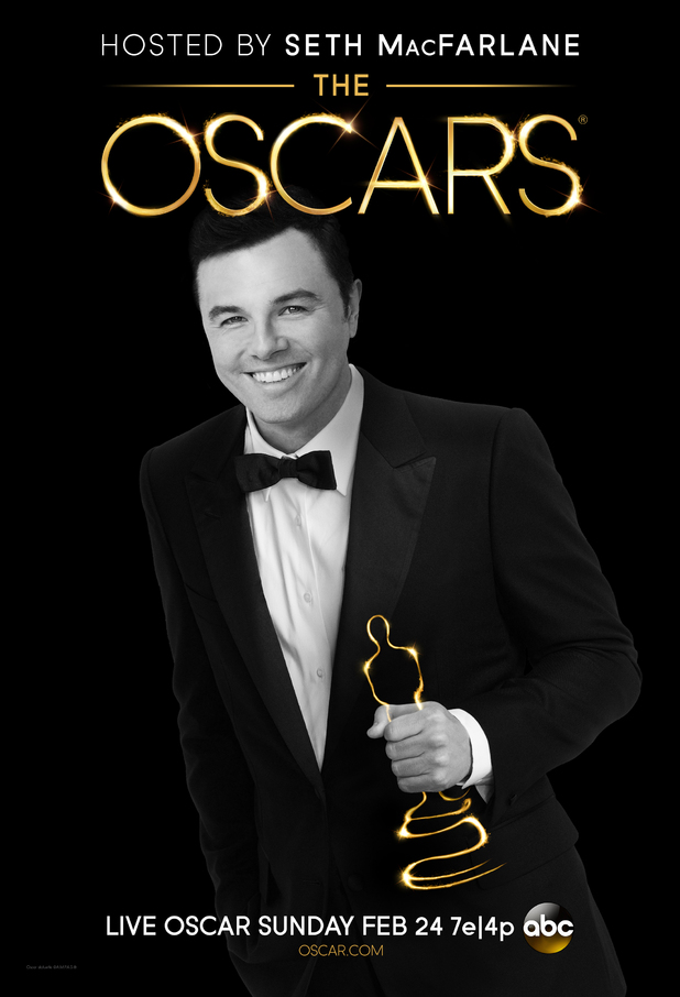 Seth Macfarlane Oscars 2013 poster