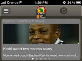 'Orange AFCON, SOUTH AFRICA 2013' screenshot