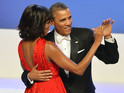 Barack Obama jokes about his wife's much-discussed new hairstyle at a gala.