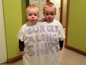 A photo posted to Reddit shows a new way to punish arguing siblings.
