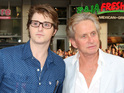 Michael Douglas's son fails drug test in prison, placed in solitary confinement.
