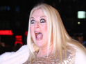 Vanessa Feltz flashes at I Give It A Year premiere, joined by stars of movie.