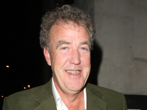 Jeremy Clarkson outside the Wosley trying to have a cigarette, except a homeless man was giving him a very hard time, eventually Jeremy gave up and went back inside and later left by the back door.