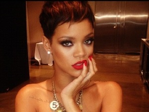 Rihanna on a new photo shoot