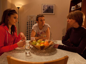 8054: Gail McIntyre [HELEN WORTH] is the picture of misery and Kylie Platt [PAULA LANE] feels guilty. But how will she and David Platt [JACK P SHEPHERD] react when Gail tells them she's going to have to increase their rent?