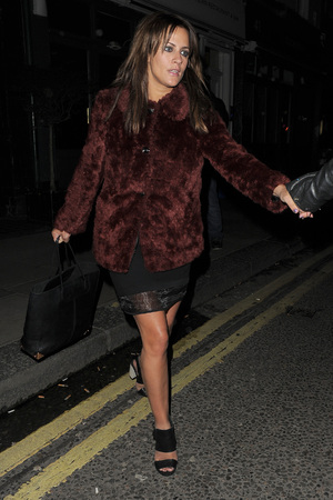Caroline Flack leaving the Groucho club in Soho Featuring: Caroline Flack Where: London, United Kingdom When: 01 Feb 2013