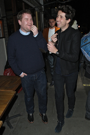 Harry Styles out celebrating his 19th Birthday at La Bodega Negra with James Corden and Nick Grimshaw before heading for the Groucho Club.Featuring: James Corden,Nick Grimshaw Where: London, United Kingdom When: 01 Feb 2013 Credit: Spiller/WENN.com