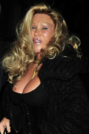 Jocelyn Wildenstein arriving at the 'Le Cirque' restaurant with her boyfriend. New York City, USA