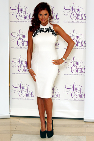 Amy Childs launches her new fashion range at the Millennium Mayfair Hotel in Central London