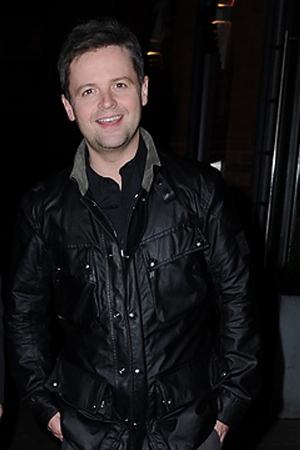 Ant and Dec leave their Manchester Hotel and head into town.